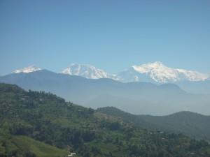 ヒマラヤ山脈のふもとに広がる棚田